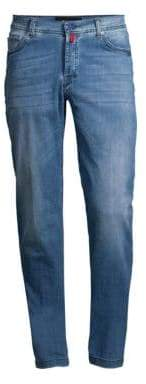 Kiton Slim-Fit Light Wash Jeans