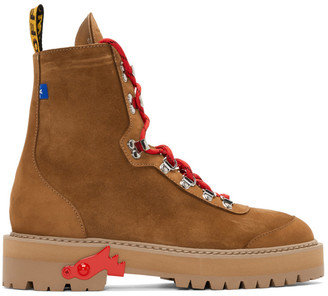 Off-White Off White Brown Hiking Boots