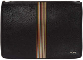 Paul Smith Black Leather Multistripe Document Holder