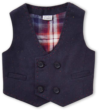 Manuell & Frank Newborn Boys) Double-Breasted Speckled Vest