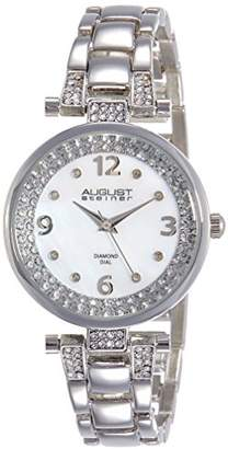 August Steiner Women's Quartz Watch with Mother of Pearl Dial and Silver Alloy Bracelet AS8137SS