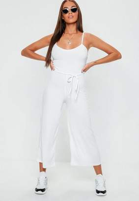 Missguided Ribbed Culotte Playsuit