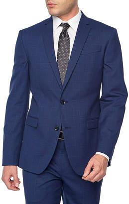 Jf J.Ferrar Plaid Classic Fit Stretch Suit Jacket-Big and Tall