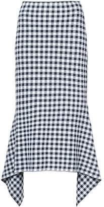 Rosetta Getty checked draped skirt