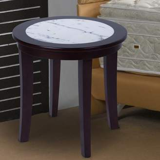 GranRest Marble Top Round Side Table