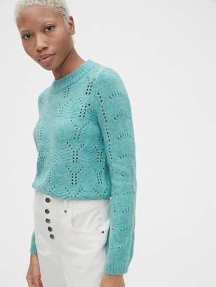 Gap Pointelle Crewneck Pullover Sweater