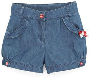 Tartine et Chocolat Tyfen Bow-Trim Denim Shorts