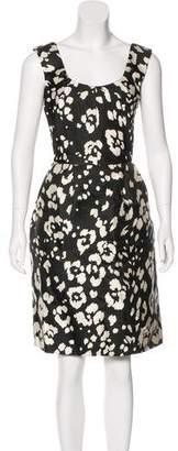 Oscar de la Renta Knee-Length Silk Dress