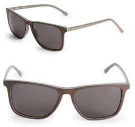 HUGO BOSS Polarized 55MM Rectangular Sunglasses