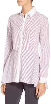 St. John Pinstripe Shirting Collared Shirt