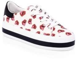 Alice + Olivia Donald Robertson Collaboration Ezra Canvas Sneakers