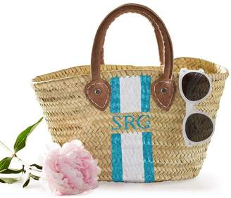 Mark And Graham Hand-Painted Straw Beach Bag