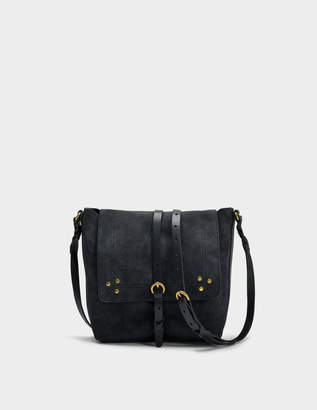 Jerome Dreyfuss Tony Bag in Black Goatskin