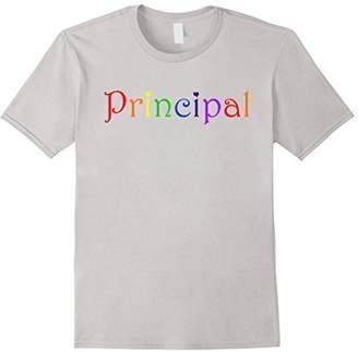 School Principal Fun Novelty Short Sleeve T Shirt Top