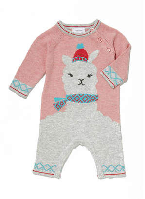 Angel Dear Llama Intarsia Knit Coverall, Size 0-12 Months
