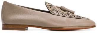 Santoni tassel detail studded slipslippers