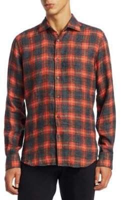 Saks Fifth Avenue MODERN Brushed Linen Flannel Button-Down Shirt