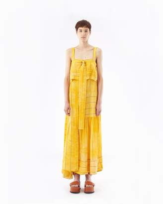 3.1 Phillip Lim Striped Tie-Front Gown