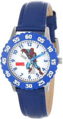 Spiderman Marvel Comics Kids' W000108 Stainless Steel Time Teacher Watch