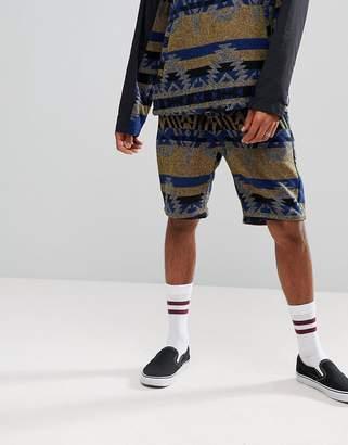 Asos DESIGN Slim Shorts Co-ord In Heavyweight Geo-Tribal Print