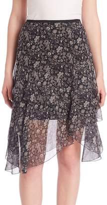 Elie Tahari Women's Sharon Floral Chiffon Skirt
