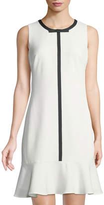Karl Lagerfeld Paris Contrast-Bow Trim Flounce Dress