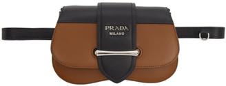 Prada (プラダ) - Prada ブラウン スモール シドニー ベルト バッグ