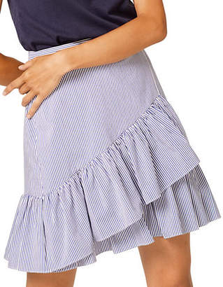 Esprit Striped Ruffled Skirt