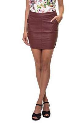 Only Women's Onlbase Faux Leather Skirt OTW