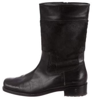 Stuart Weitzman Square-Toe Mid-Calf Boots
