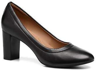Clarks Women's Chryssa Ari Rounded Toe High Heels In Black - Size Uk 6 / Eu 39