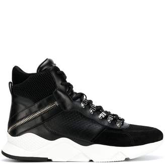 Balmain ankle lace-up sneakers