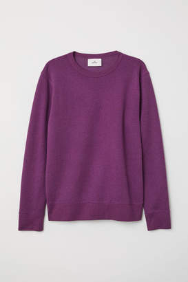 H&M Silk-blend Sweatshirt - Purple