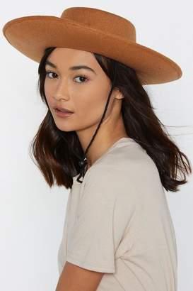 Nasty Gal Poly Wide Brim Flat Western Hat