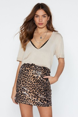 Nasty Gal Oh You're Moving Too Fast Leopard Skirt