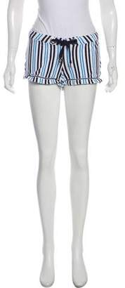 Tory Burch Striped Mini Shorts