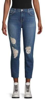 L'Agence Distressed Skinny Jeans
