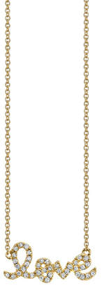 Sydney Evan Small Love Necklace Yellow Gold