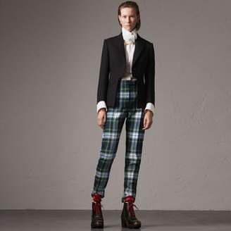 Burberry Lightweight Wool-silk Tailored Riding Jacket