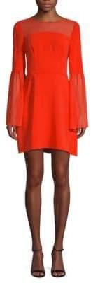 BCBGMAXAZRIA Mesh A-Line Dress