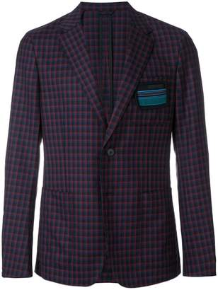Prada checked blazer