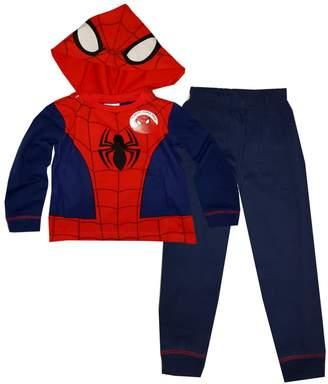 Marvel Spiderman Boys Long Length Novelty Dress Up detachable Hood Pajama 2-8 Years