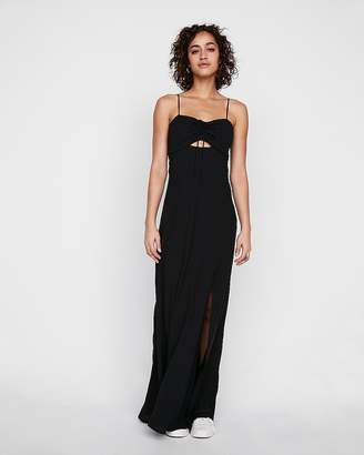 Express Tie Front Cutout Maxi Dress
