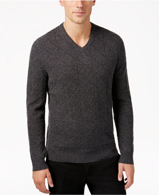 Alfani Collection Men's Mercerized Wool Sweater, Only at Macy's $129 thestylecure.com