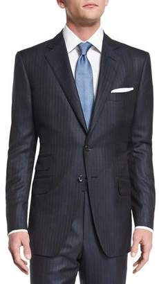 Tom Ford O'Connor Base Birdseye Pinstripe Wool Suit, Navy