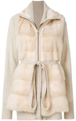 Liska layered fur jacket