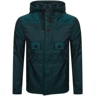 Pretty Green Iridescent Hooded Jacket Green