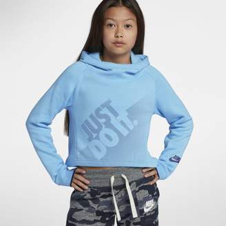 Nike Sportswear Older Kids'(Girls') Cropped Pullover Hoodie