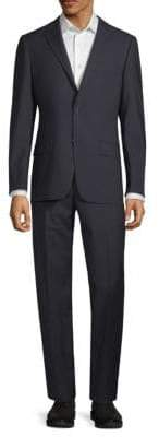 Hickey Freeman Textured Wool Suit