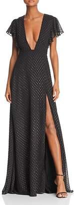 Jill Stuart Metallic Tulle Gown